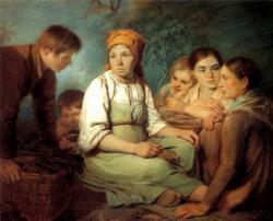 Очищение свеклы (А.Г. Венецианов, 1820)