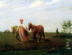 На пашне. Весна. (А.Г. Венецианов, 1820)